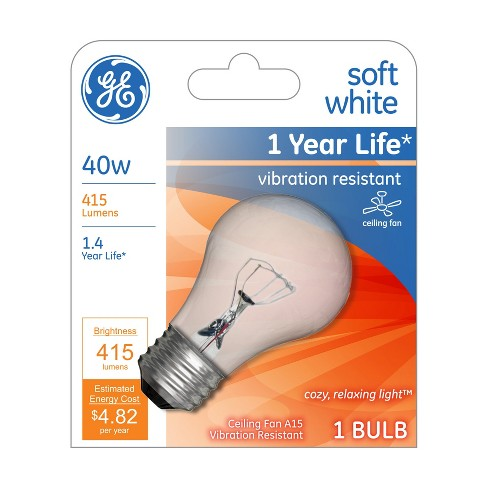 GE SW inc LED 40w A15 Ceiling Fan Clear - image 1 of 1