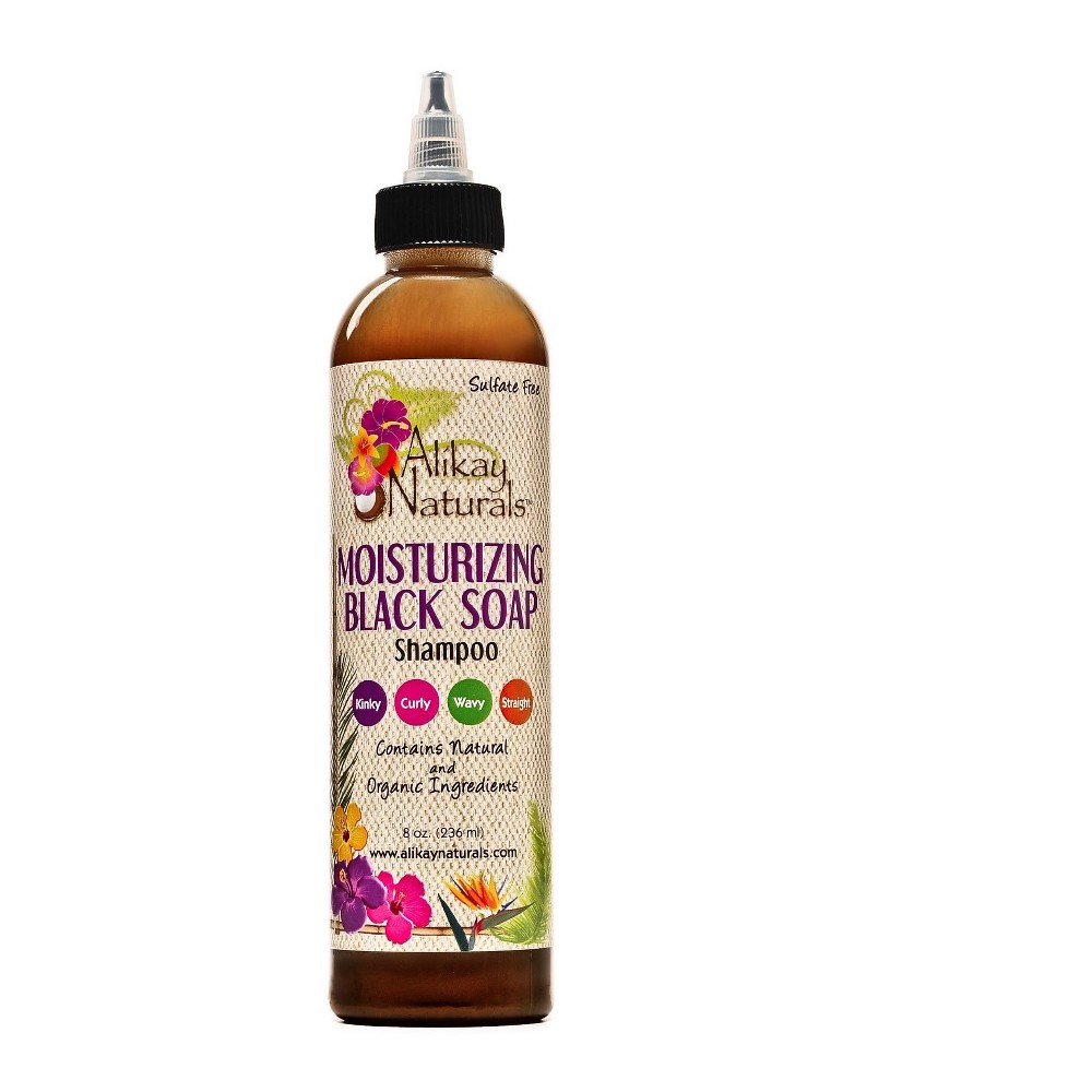 Image of Alikay Naturals Moist Black Soap Shampoo - 8oz