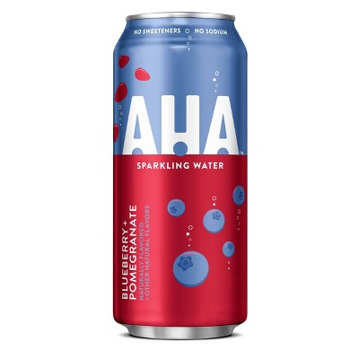 AHA Blueberry + Pomegranate Sparkling Water - 16 fl oz Can