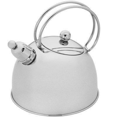 Demeyere Resto 2.6-qt Stainless Steel Whistling Tea Kettle