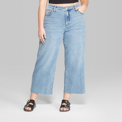 Women s Plus Size High-Rise Wide Leg Cropped Jeans - Wild Fable™   Target dffe26bb8b