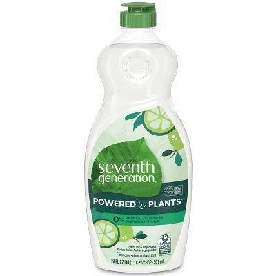 Seventh Generation Dish Wash Cleaner - Fresh Lime and Ginger - 19oz