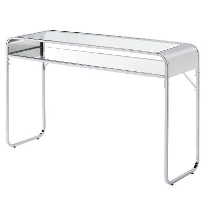 Milrix Sofa Table with Glass Top - miBasics