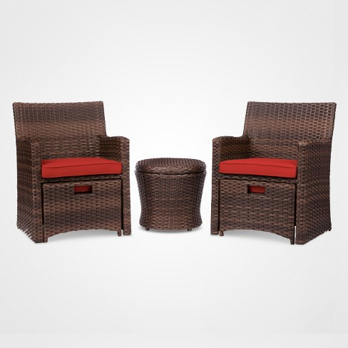 Halsted 5pc Wicker Small Space Patio Furniture Set - Threshold™ - Halsted 5pc Wicker Small Space Patio Furniture Set - Threshold™ : Target