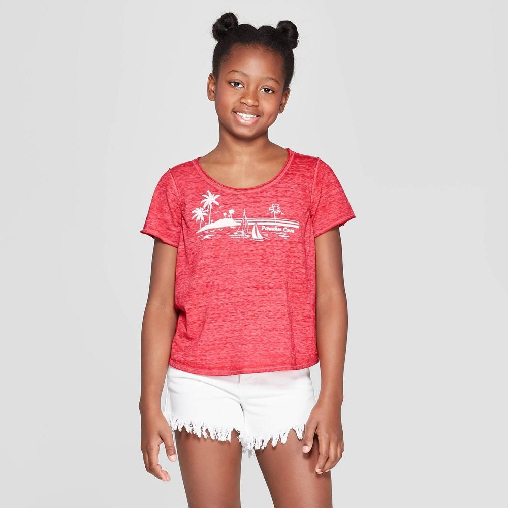 Girls' Short Sleeve Graphic T-Shirt - art class Red L