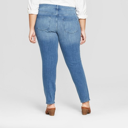 59546a04ab883 Women s Plus Size Bi-Stretch Skinny Jeans - Universal Thread™ Medium Wash    Target