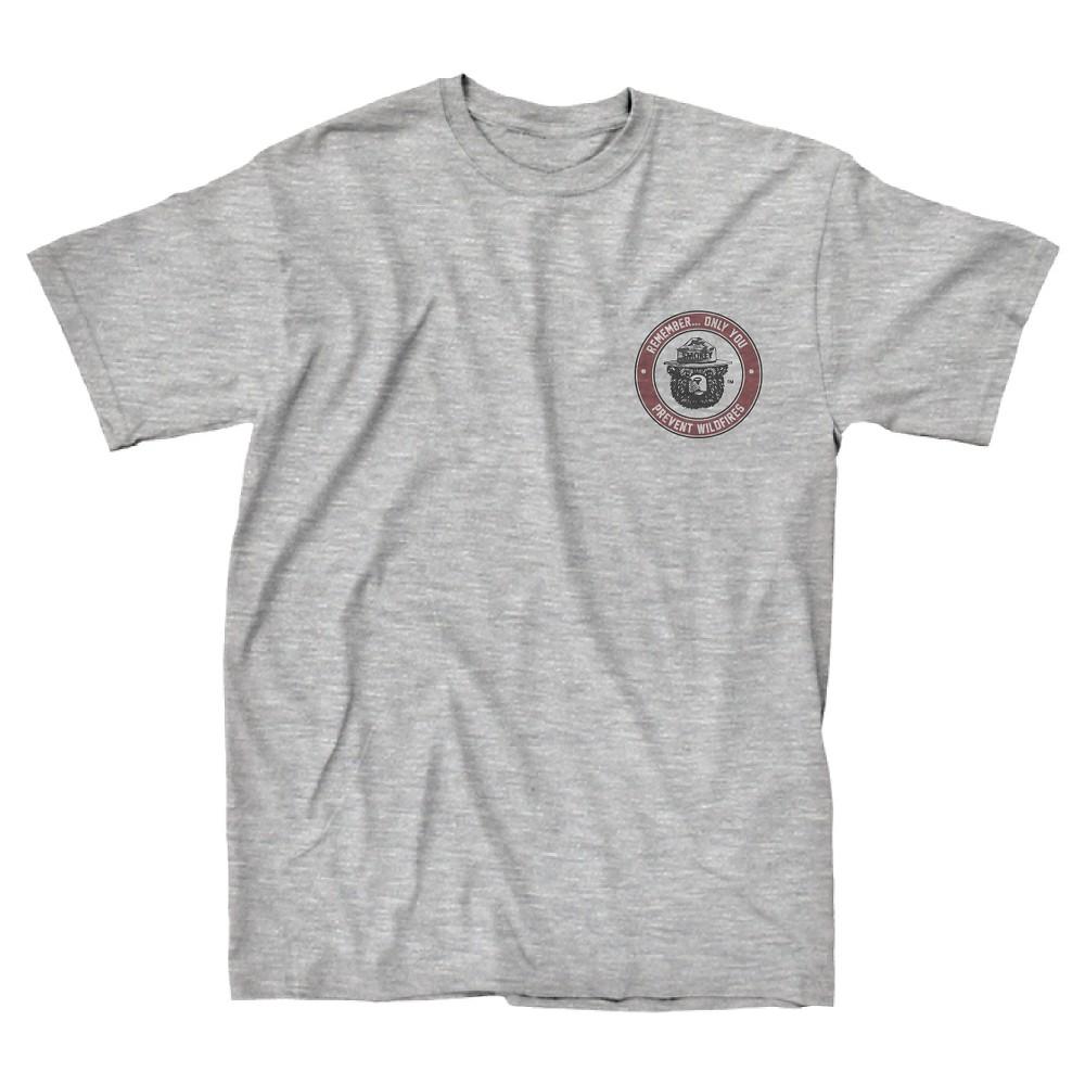 Men's Smokey Bear T-Shirt - Charcoal L, Gray