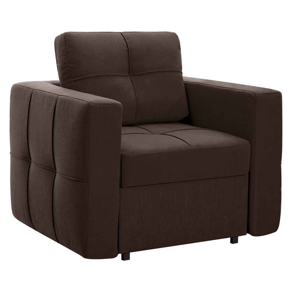 Barlow Convertible Chair to Chaise to Bed in Java - Relax A Lounger, Brown