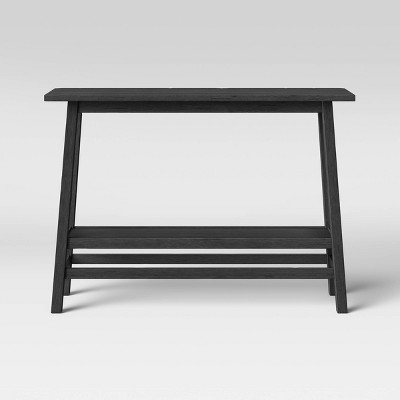 Haverhill Wood Console Table with Shelf Black - Threshold™