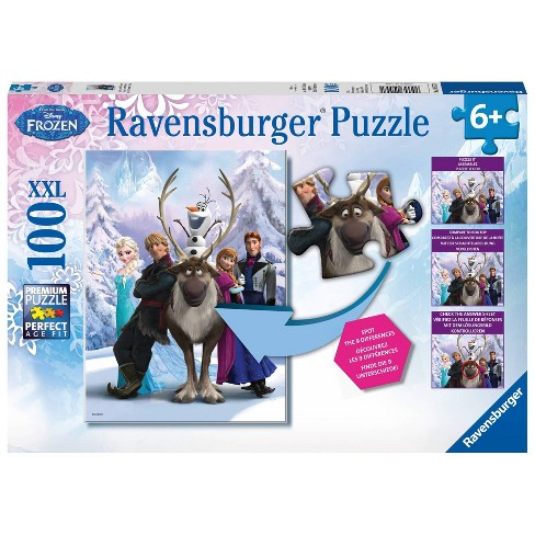 Ravensburger The Frozen Difference Puzzle 100pc - image 1 of 1