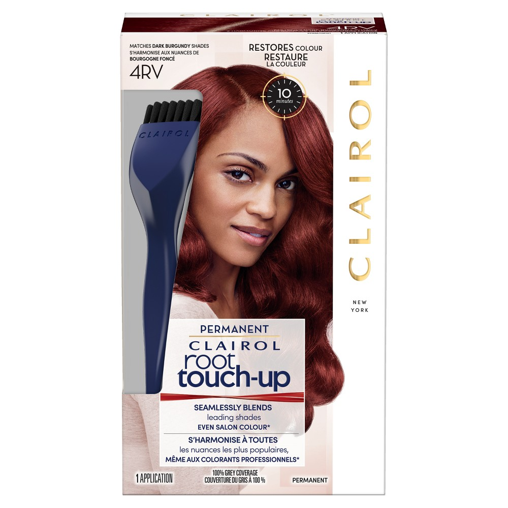Image of Clairol Nice'N Easy Root Touch Up 4RV Dark Burgundy - 1 kit, 4RV Dark Red