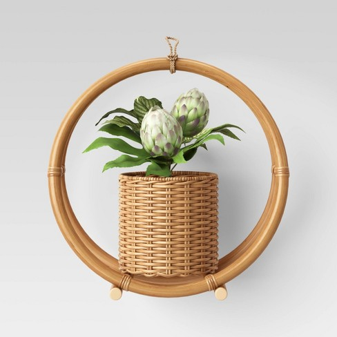 "14.7"" x 14.2"" Rattan Hanging Planter Holder Natural - Opalhouse™ - image 1 of 3"