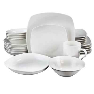 Gibson Hagen 30 Piece Dinnerware Set in White