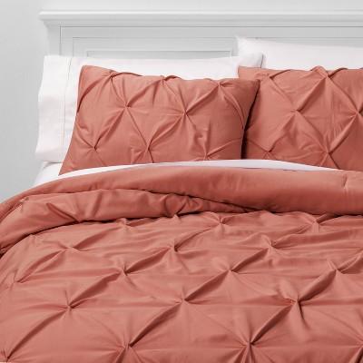 King Pinch Pleat Comforter & Sham Set Rose - Threshold™