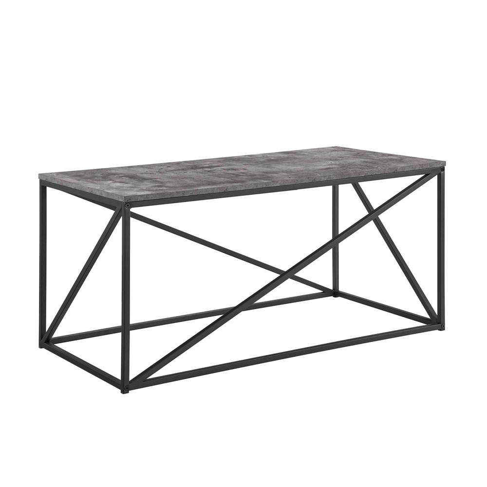 40 34 Modern Geometric Coffee Table Dark Concrete Saracina Home