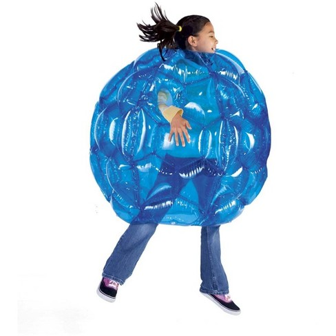 "Blue Bbop Buddy Bumper Ball Inflatable Giant Wearable Body Bubble Active Kid Toy Outdoor Play 36"" Diam. Heavy Duty Viny - Hearthsong - image 1 of 2"