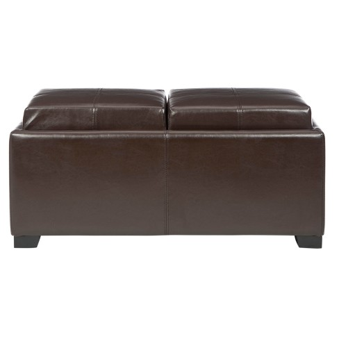 Pleasing Storage Ottomans Brown Safavieh Gmtry Best Dining Table And Chair Ideas Images Gmtryco