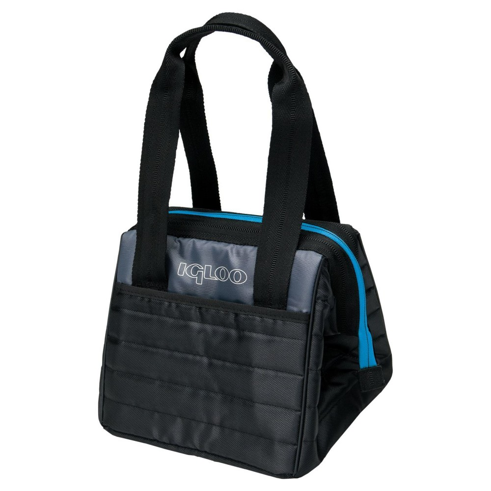 Igloo Stowe Leftover Lunch Bag - Black/ Blue (Black/Blue)