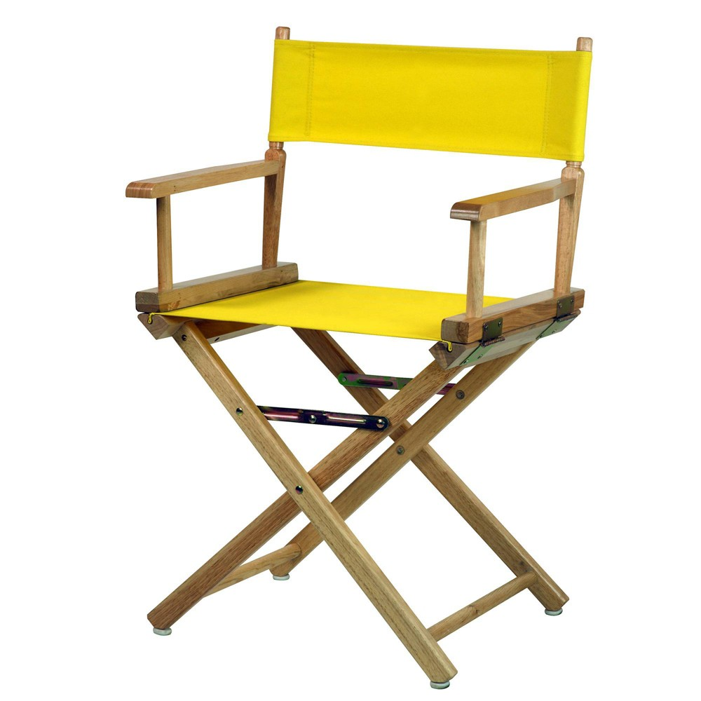 Director S Chair Canvas Yellow Natural Flora Home