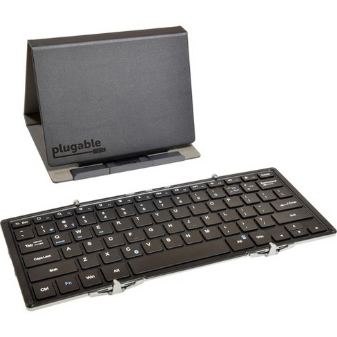 Plugable Bluetooth Full-Size Folding Keyboard and Case for Android, iOS, Windows - Wireless Connectivity - Bluetooth - Mac, Android, iOS - image 1 of 2