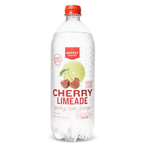 Cherry Limeade Sparkling Water - 1 L Bottle - Market Pantry™ - image 1 of 2