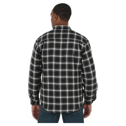Wrangler Mens Originals Quilted Flannel Shirt Target