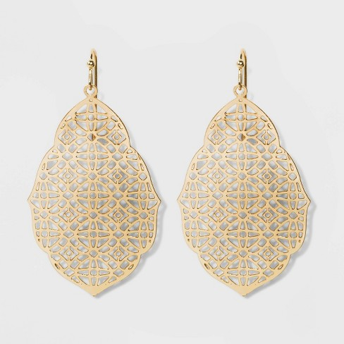 Filigree Earrings - A New Day™ - image 1 of 3