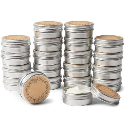 Juvale 20 Pack Round Aluminum Container, Multipurpose Tin (0.5 oz, 1.6 x 0.7 in)