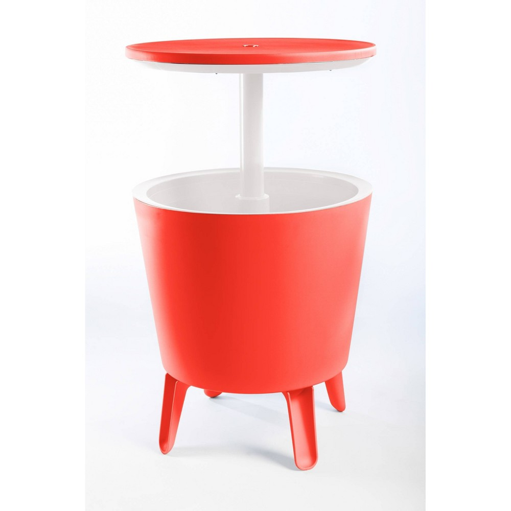 Image of Cool Bar Cooler Bar Table - Coral - Keter