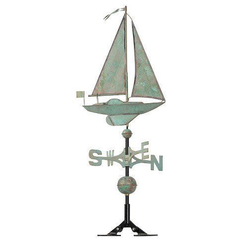 "19"" Sailboat Weathervane - Copper Verdigris - Whitehall Products - image 1 of 1"