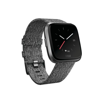 Fitbit Versa Smartwatch with Small & Large Bands Special Edition - Charcoal Woven