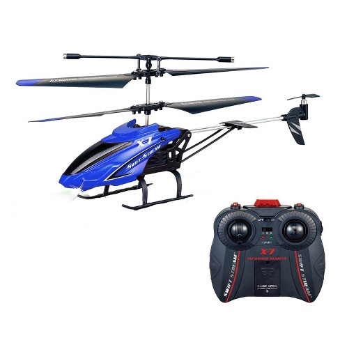 """Swift Stream RC 9.4"""" X-7 Helicopter - Blue - image 1 of 4"""