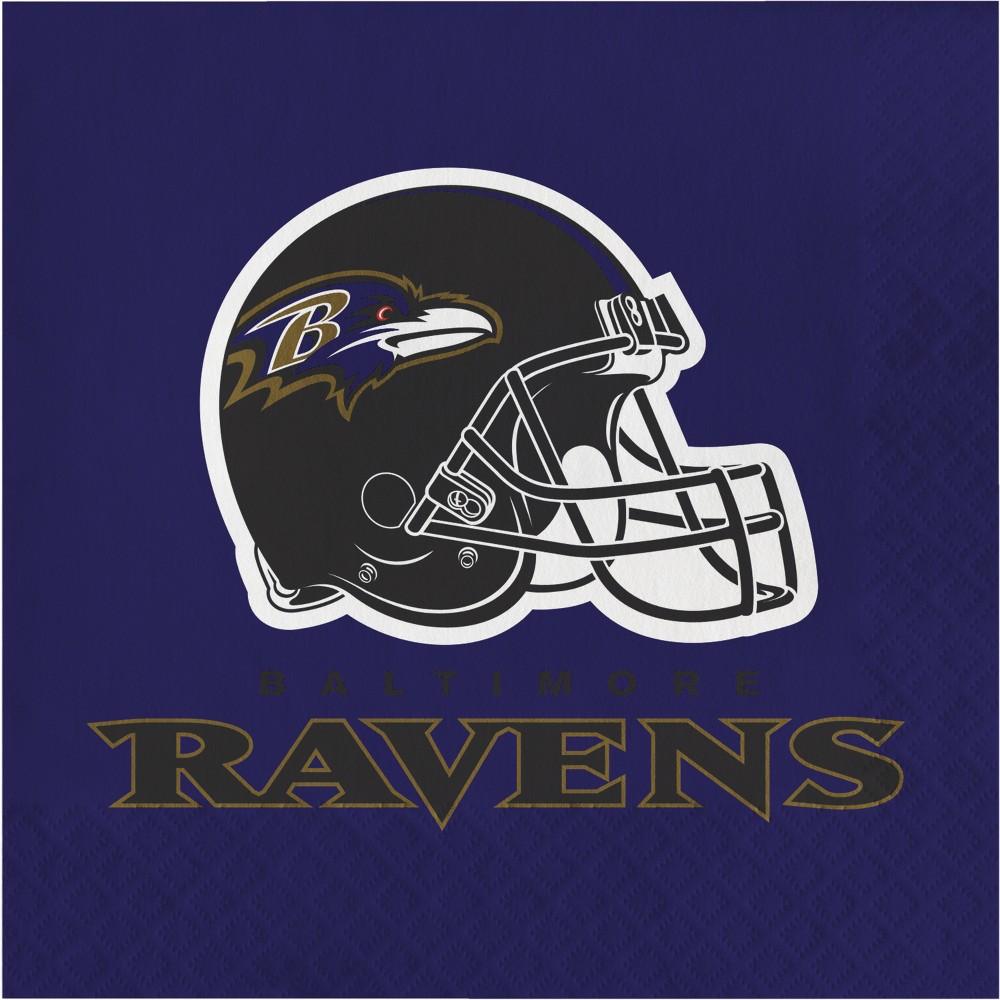 Image of 16ct Baltimore Ravens Napkins, Multi-Colored