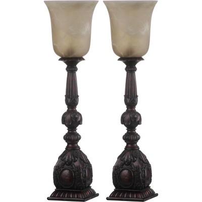 "(Set of 2)27.5"" Dion Arifact Table Lamp Black (Includes CFL Light Bulb)- Safavieh"