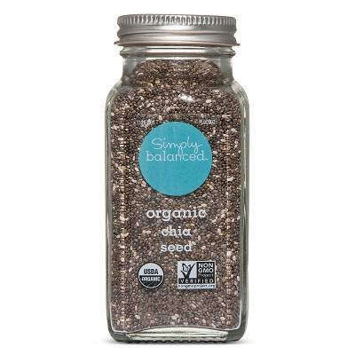 Organic Chia Seed - 3.75oz - Simply Balanced™