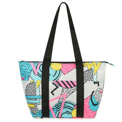 Zodaca Fashion Insulated Zip Closure Shoulder Lunch Picnic Cooler Bag Tote Carry Bag