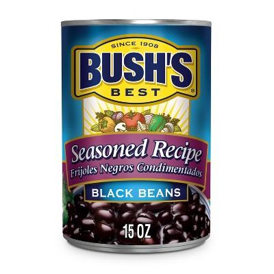 Bush's Seasoned Recipe Black Beans - 15oz