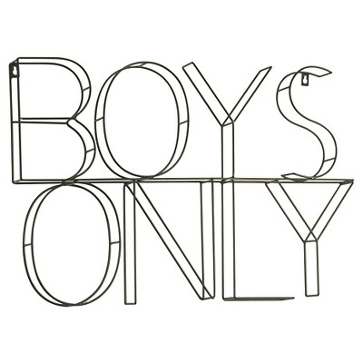 Boys Only Wire Wall Decor - Pillowfort™