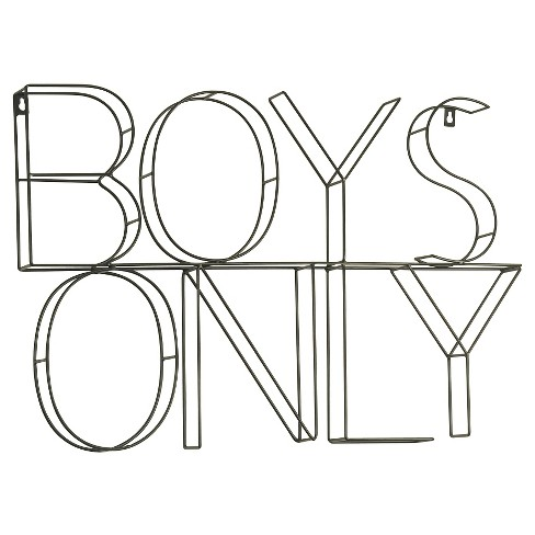 Boys Only Wire Wall Decor - Pillowfort™ - image 1 of 1
