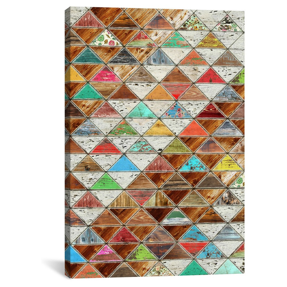 Love Pattern By Diego Tirigall Canvas Print 18 X12