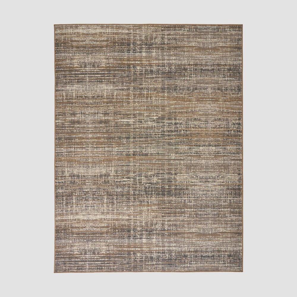 7'10 x 10' Cortez Contemporary Outdoor Rug Gray/Beige - Christopher Knight Home