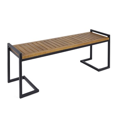 Hopkins Acacia & Iron Bench - Christopher Knight Home
