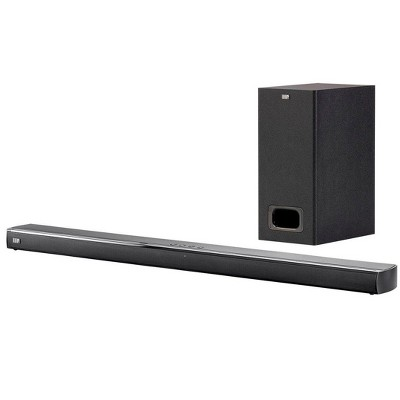 Monoprice SB-200SW Premium Slim Soundbar With Wireless Subwoofer HDMI ARC, Bluetooth, Optical, And Coax Inputs