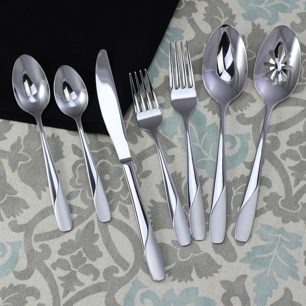 Image of 42pc Stainless Steel Satin Abel Silverware Set - Studio Cuisine