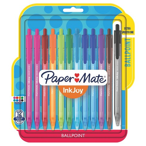 Paper Mate® Inkjoy® 100RT Retractable Ballpoint Pen, 1mm, 12ct - Multicolor Ink - image 1 of 8