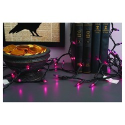 100ct Indoor/Outdoor Halloween Mini String Lights Purple - Hyde & EEK! Boutique™