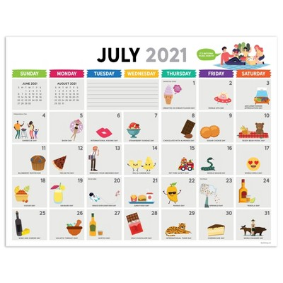 2021-22 Academic Desktop Calendar Every Day's A Holiday Monthly Desk Pad Blotter - The Time Factory