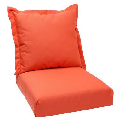 2pc Outdoor Deep Seating Cushion - Orange - Sunbrella