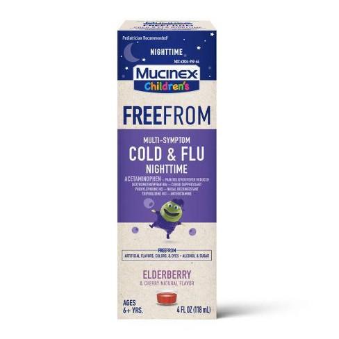 Mucinex Children's Free From Multi-Symptom Cold & Flu Nighttime Suppressant - 4 fl oz - image 1 of 4