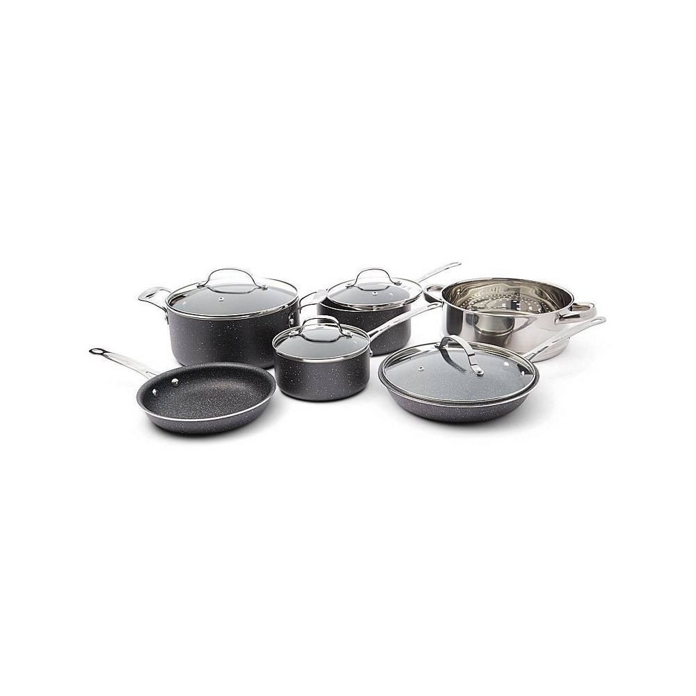 Image of As Seen on TV 10pc Granite Stone Diamond Cookware Set, Gray